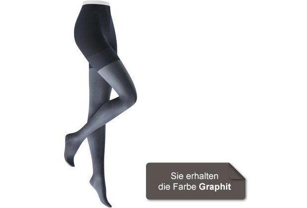 Kunert Damen Feinstrumpfhose Fly & Care 40 Graphit 36/38