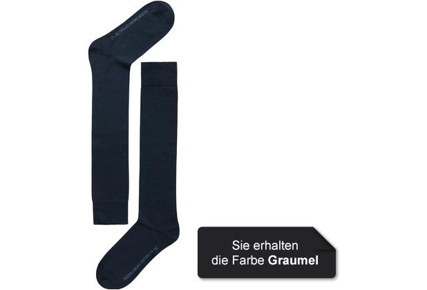 Hudson Grobstrick Kniestrumpf Relax Cotton Grau-mel. 35/38