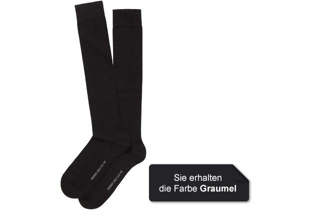 Hudson Herren Kniestrumpf Grobstrick  2er Pack Only Grau-mel. 39/42