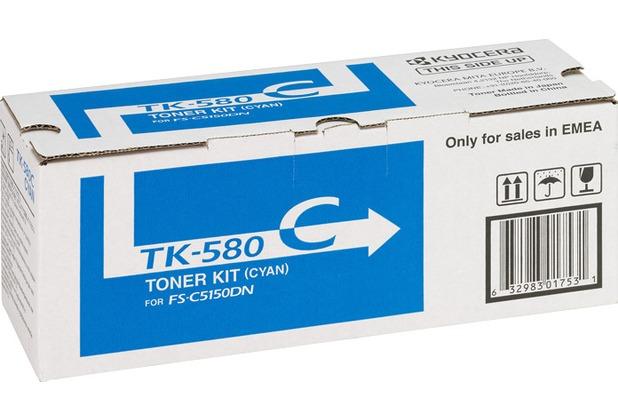 Kyocera Lasertoner TK-580C cyan 2.800 Seiten