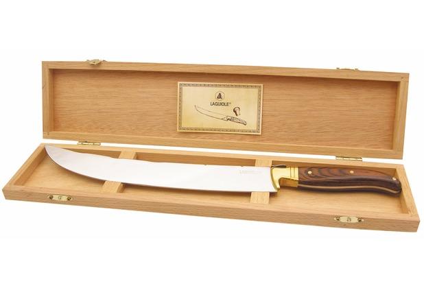 Laguiole Champagnersäbel in edler Holzbox, Länge 42cm