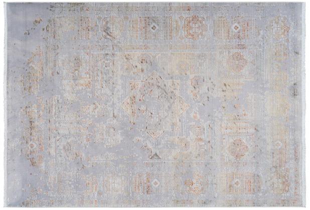 Lalee Teppich Galapagos - Tortuga Silber 140 x 190 cm