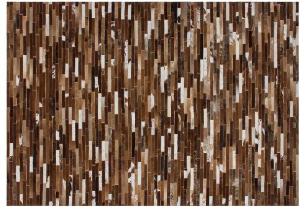 Kayoom Lederteppich Gambia - Banjul Beige 140 x 200 cm