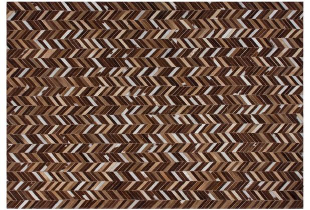 Kayoom Lederteppich Gambia - Farafenni Beige 140 x 200 cm