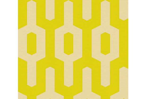 Lars Contzen Vliestapete Artist Edition No. 1 Tapete Ageless Meander beige grün 10,05 m x 0,53 m