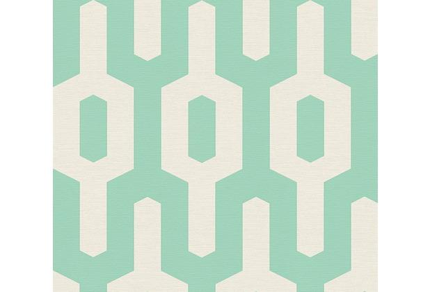 Lars Contzen Vliestapete Artist Edition No. 1 Tapete Ageless Meander grün weiß 10,05 m x 0,53 m