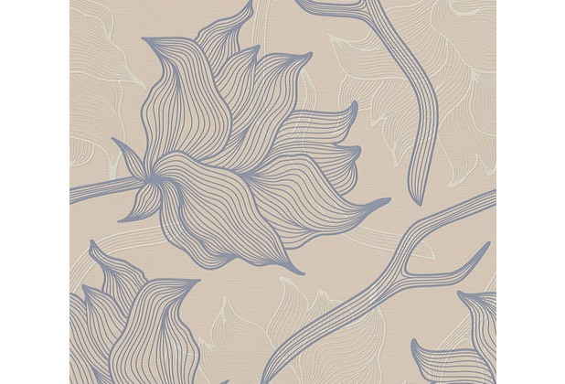 Lars Contzen Vliestapete Artist Edition No. 1 Tapete Dried Flowers beige grau 10,05 m x 0,53 m