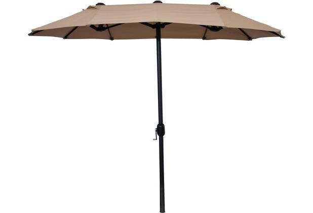 Leco Balkon-Ovalschirm Sonnenschirm
