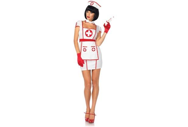 Leg Avenue 3tlg Kostüm Set Krankenschwester weiß/rot M/L