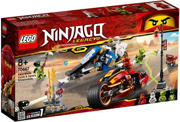 LEGO® NINJAGO® 70667 Kais Feuer-Bike & Zanes Schneemobil