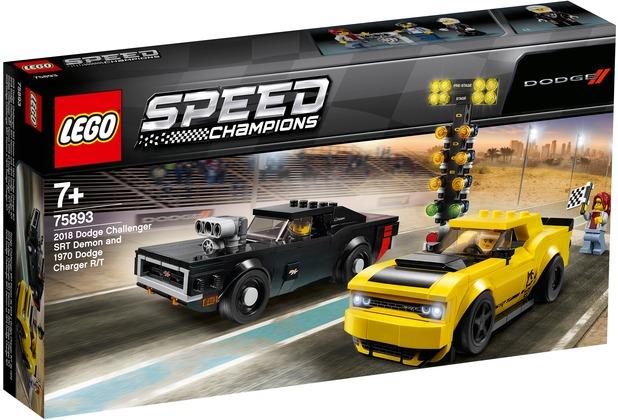 LEGO® Speed Champions 75893 2018 Dodge Challenger SRT Demon und 1970 Dodge Charger R/T