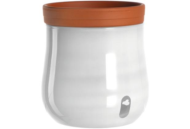 Leonardo Pflanztopf SERRA 2-teilig 16,5 cm weiß