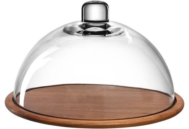 Leonardo GK/Holzkäseplatte m.Glasglocke mehrfarbig