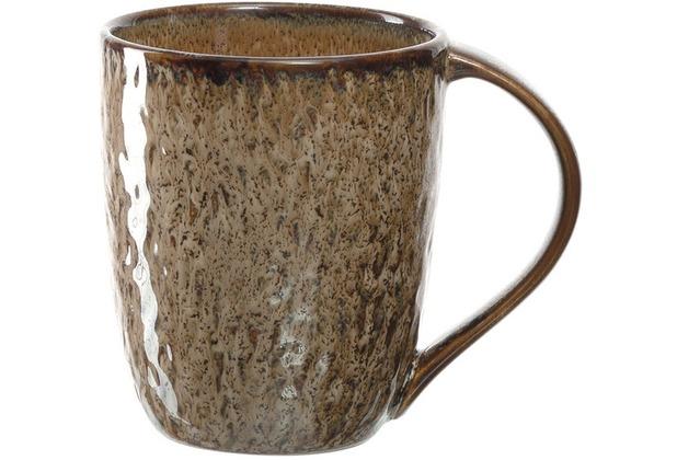 Leonardo Matera Keramiktasse 6er-Set 430 ml beige