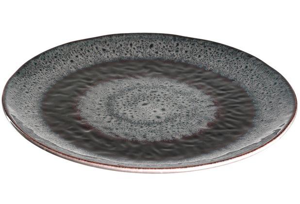 Leonardo Matera Keramikteller 6er-Set 22,5 cm anthrazit