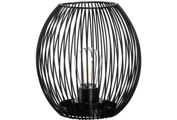 Leonardo Laterne mit LED CASOLARE 18 cm schwarz
