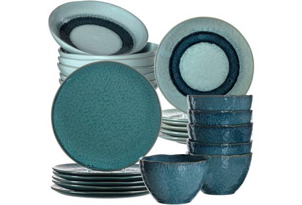 Leonardo Matera Tafelservice für 6 Personen 24-teilig blau