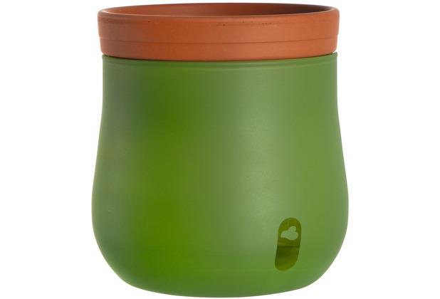 Leonardo Pflanztopf SERRA 2-teilig 16,5 cm grün