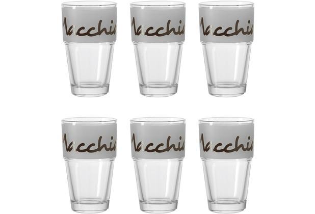 Leonardo Becher Solo Latte Macchiato dunkelbraun satiniert