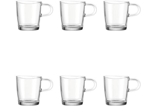 Leonardo 6er Set Kaffeetasse Loop