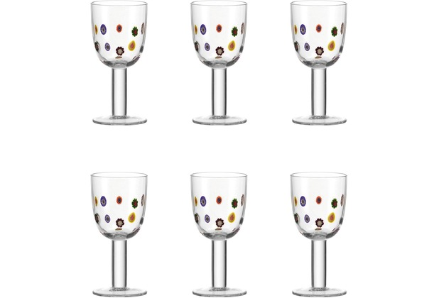 Leonardo Set 6 Weißweinglas Millefiori