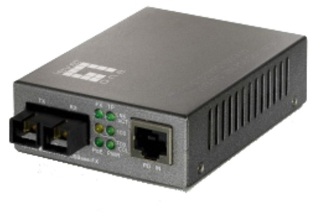 LevelOne Converter 100TX to 100FX-SC Multimode - (POE)