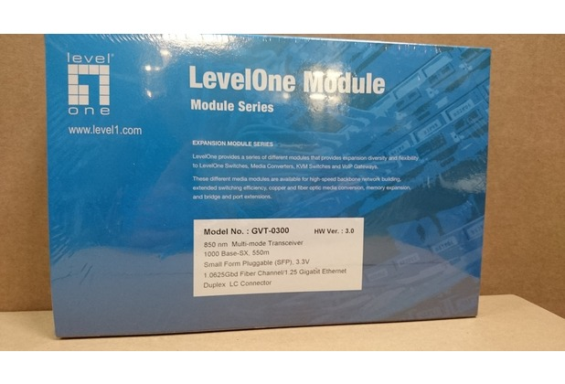LevelOne mini GBIC SFP Tranceiver SX/LC Fiber MultiMode 550m