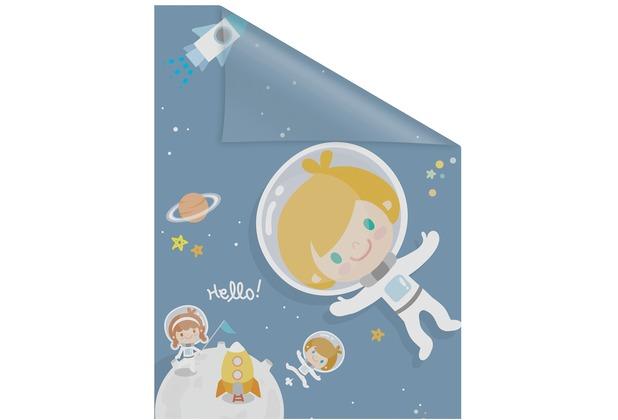 Lichtblick Fensterfolie selbstklebend, Sichtschutz, Astronaut - Blau Breite: 100 cm, Länge: 100 cm