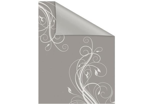 Lichtblick Fensterfolie selbstklebend, Sichtschutz, Floral - Grau Weiß Breite: 100 cm, Länge: 100 cm