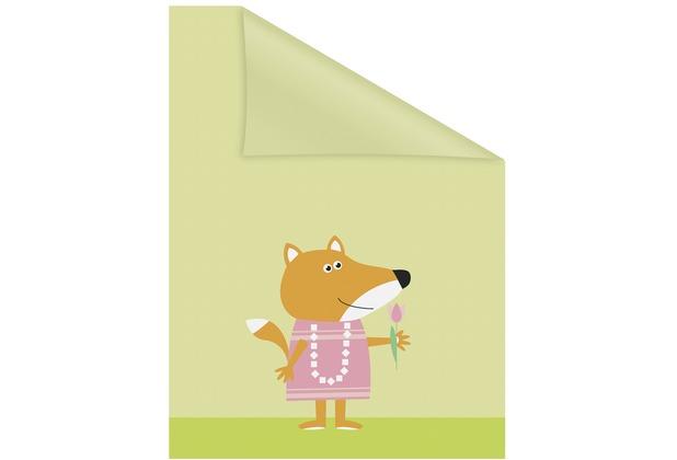 Lichtblick Fensterfolie selbstklebend, Sichtschutz, Fuchs - Gelb Orange Breite: 100 cm, Länge: 100 cm