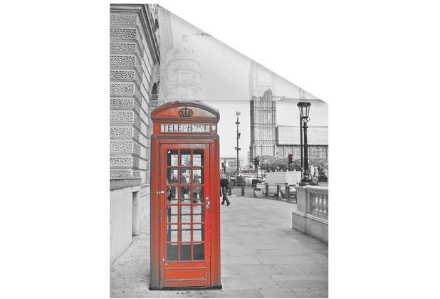 Lichtblick Fensterfolie selbstklebend, Sichtschutz, London - Rot Breite: 100 cm, Länge: 100 cm