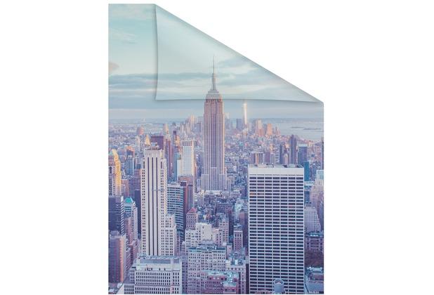Lichtblick Fensterfolie selbstklebend, Sichtschutz, New York - Bunt Breite: 100 cm, Länge: 100 cm