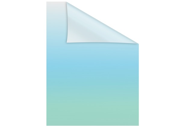 Lichtblick Fensterfolie selbstklebend, Sichtschutz, Ombre Petrol - Petrol Breite: 100 cm, Länge: 100 cm