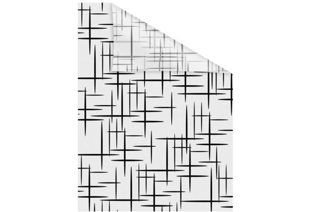 Lichtblick Fensterfolie selbstklebend, Sichtschutz, Stars Schwarz - Schwarz Weiß Breite: 100 cm, Länge: 100 cm