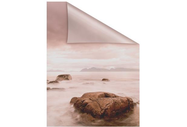 Lichtblick Fensterfolie selbstklebend, Sichtschutz, Stone - Rot Breite: 100 cm, Länge: 100 cm