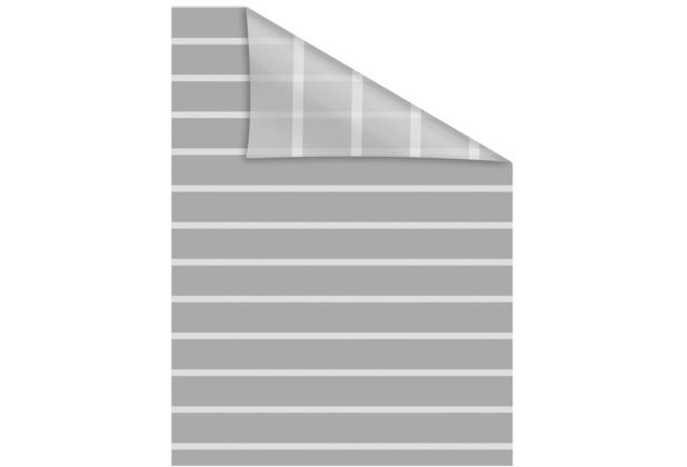 Lichtblick Fensterfolie selbstklebend, Sichtschutz, Streifen - Grau Weiß Breite: 100 cm, Länge: 100 cm