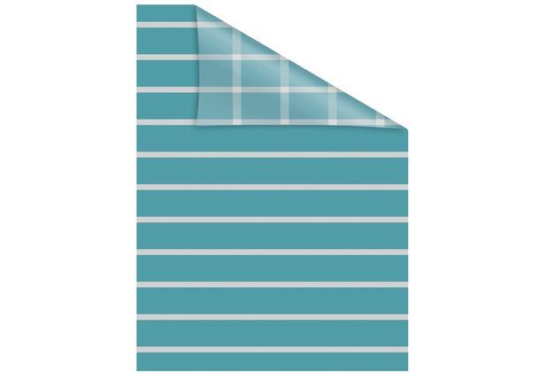 Lichtblick Fensterfolie selbstklebend, Sichtschutz, Streifen Petrol - Petrol Breite: 100 cm, Länge: 100 cm