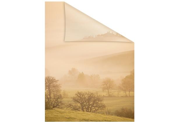Lichtblick Fensterfolie selbstklebend, Sichtschutz, Toskana - Orange Breite: 100 cm, Länge: 100 cm