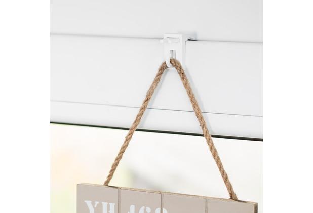 lichtblick fensterhaken f r dekoration klemmfix ohne bohren wei. Black Bedroom Furniture Sets. Home Design Ideas