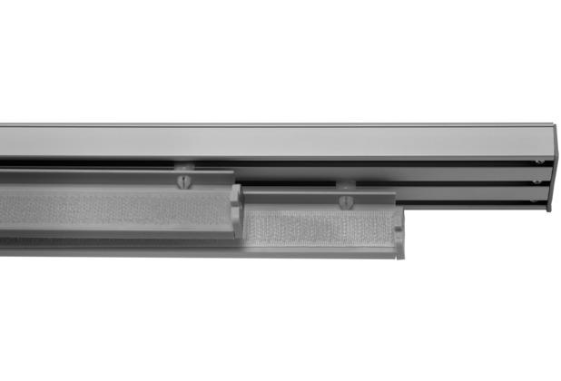 Lichtblick Paneelwagen für Flächenvorhang, 60 cm, mit Klettband und Beschwerung  Aluminium