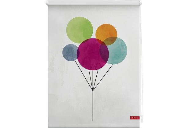 Lichtblick Rollo Klemmfix, ohne Bohren, blickdicht, Ballon - Bunt Breite: 100 cm
