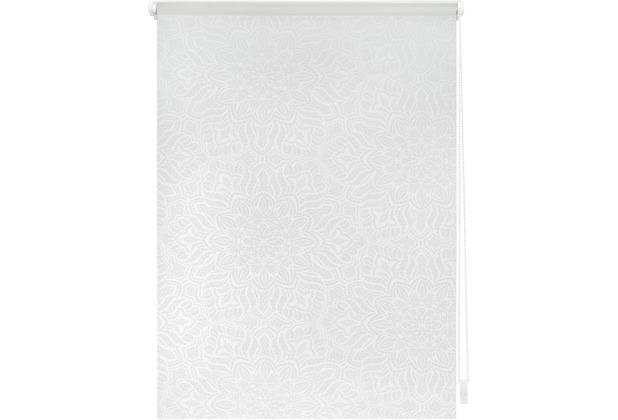 Lichtblick Rollo Klemmfix, ohne Bohren, blickdicht, Henna - Weiß Transparent Breite: 100 cm