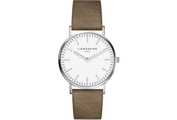 Liebeskind Damenuhr mit Lederarmband LT-0083-LQ calf Uhr Damen Armbanduhr Leder