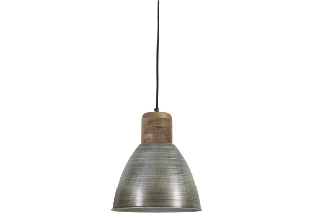 Light & Living Hängeleuchte Ø31x42cm ISMAY Holz weather barn+antik Silber