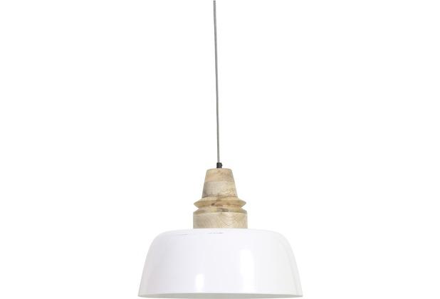 Light & Living Hängeleuchte Ø40x33 cm MARGO Holz naturel Kopf weiss