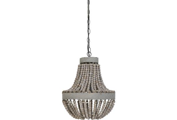 Light & Living Hängeleuchte Perlen Ø35,5x45 cm LUNA alt Weiss