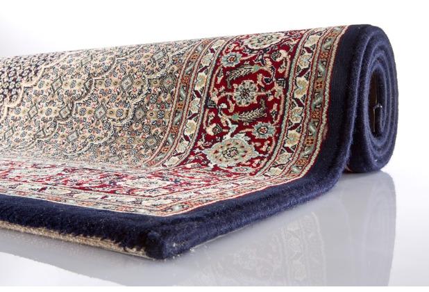 Oriental Collection Shah-Abbas Mahi blau 100 x 150 cm