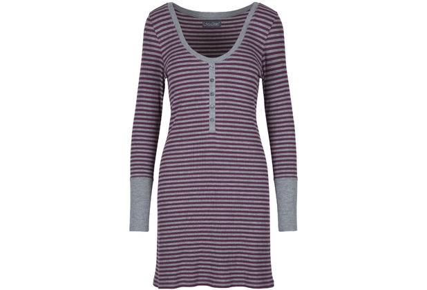 LingaDore HUSH Dress L/S Stripe Print L