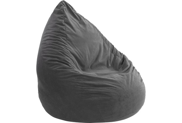 linke licardo Sitzsack, Microvelour anthrazit 90 cm hoch