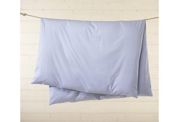 Livingston Batist-Bettwäsche-Garnitur mit Knopfverschluss, blau-weiß kariert 135x200cm + 80x80cm + 2 x 35x40cm